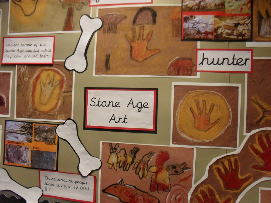 Year 3's stone age Art