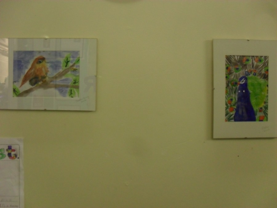 We hold whole school art exhibitions