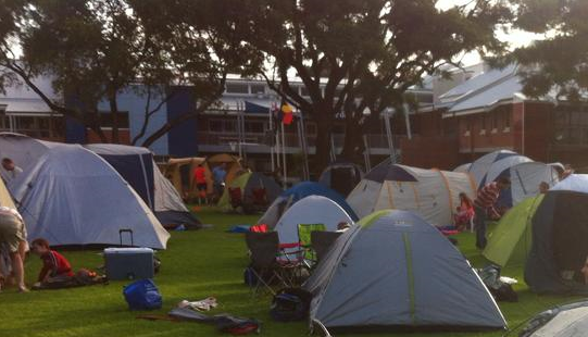 Photo of tents at Dads & Kids Camp Out