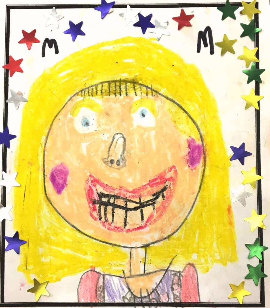 Portrait of our Headteacher by a Year 1 Child from Class 5