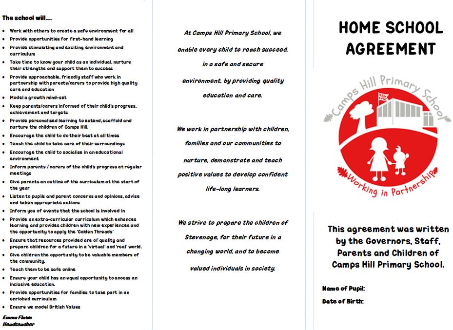 Model home school agreement