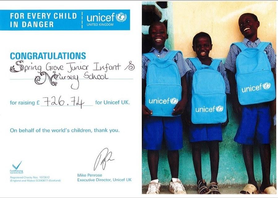 Unicef Thank You.