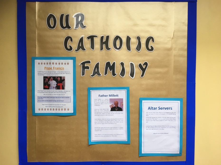 Image of Our Catholic School display