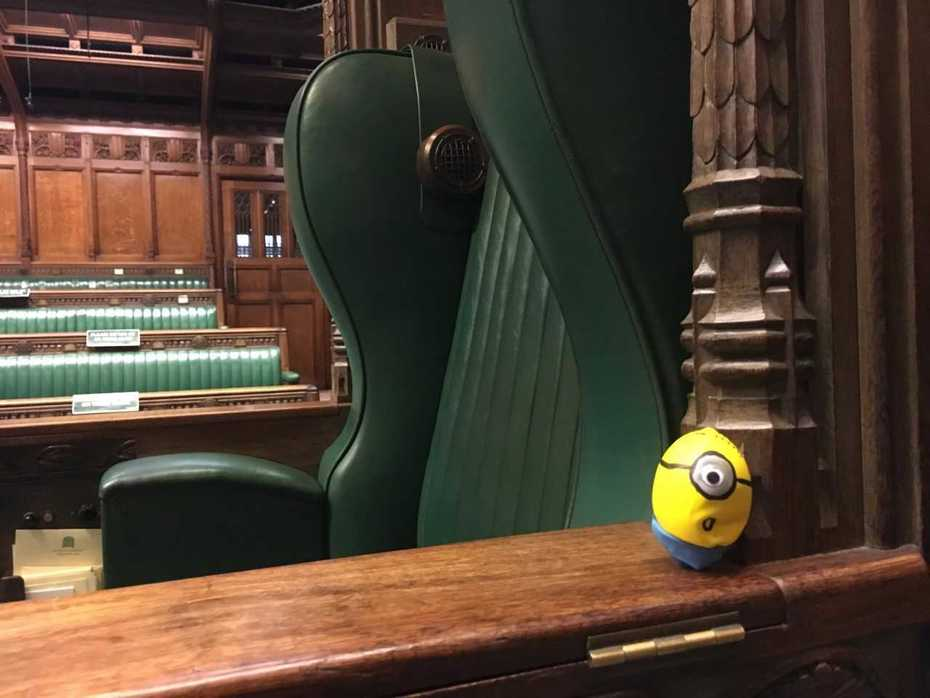 MInion visits Parliament 1