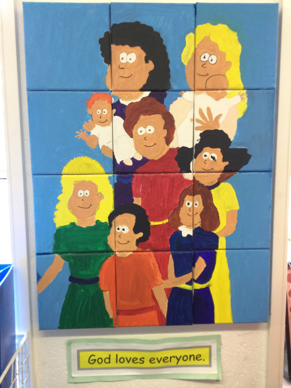 Canvas painted Chudleigh Pioneers