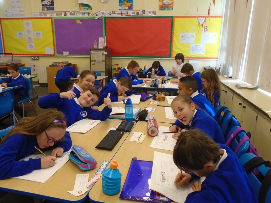 P7 children working very hard!