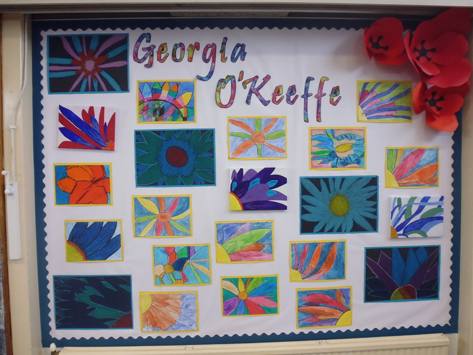 Year Three Artwork Georgia O'Keeffe