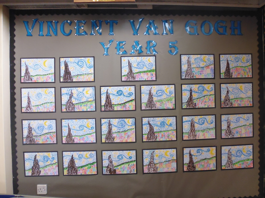 Year Five Artwork Van Gogh