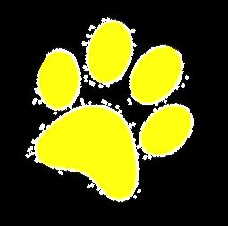 yellow Paw Print