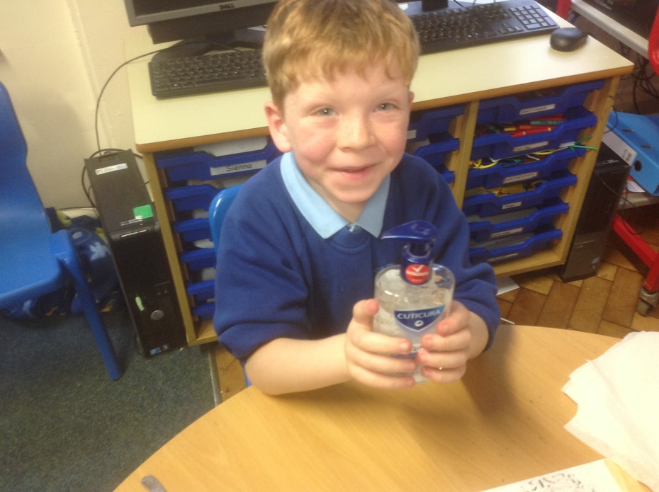 William with hand gel