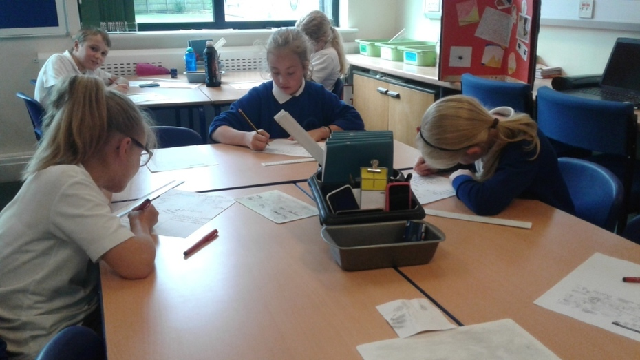 Writing in class 4