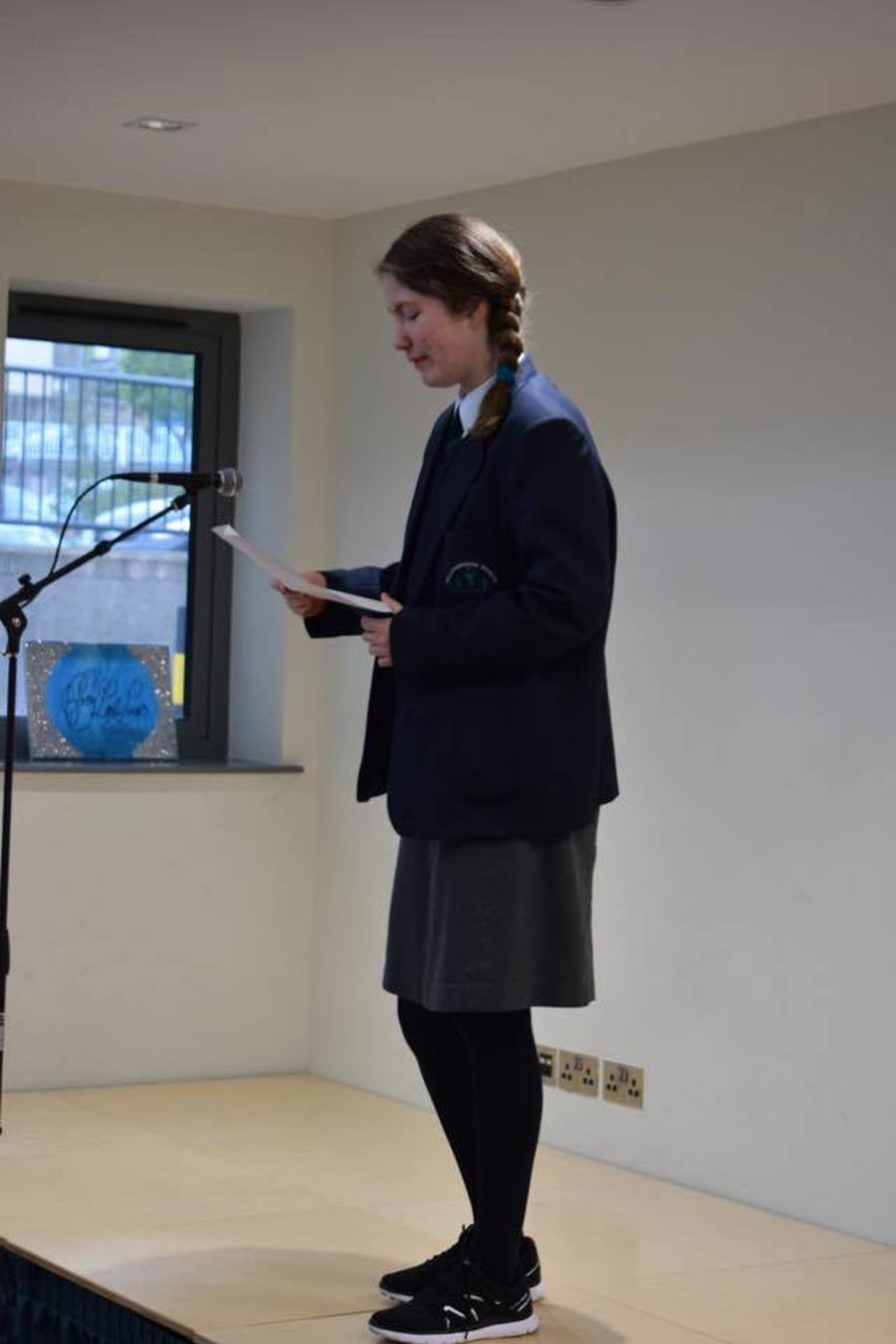 One of our pupils in 4B took part in National Poetry Day. Eve did a fantastic job reading the poem - well done Eve!!