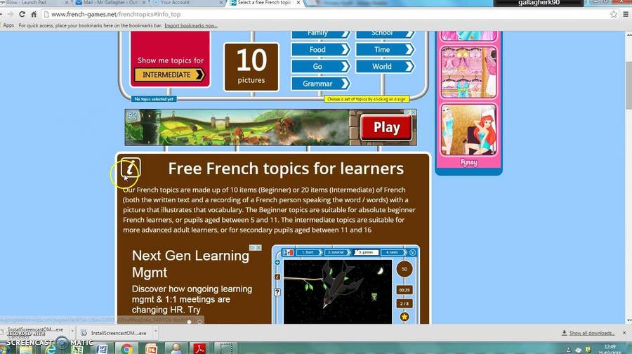 French-games is a free website for beginners learning French, both young and old. It has games and quick tests to make learning fun.