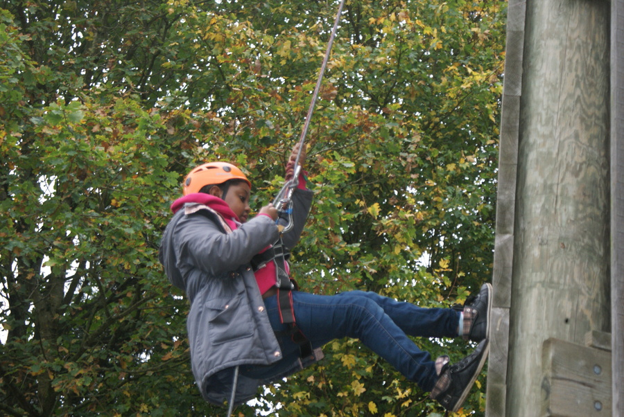 Abseiling!
