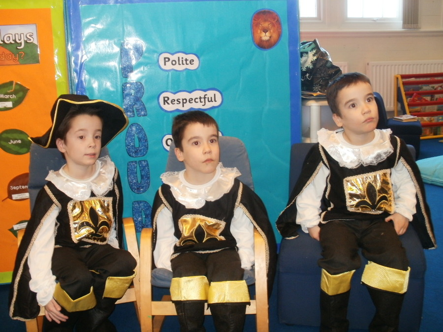 Our Three Musketeers on World Book Day