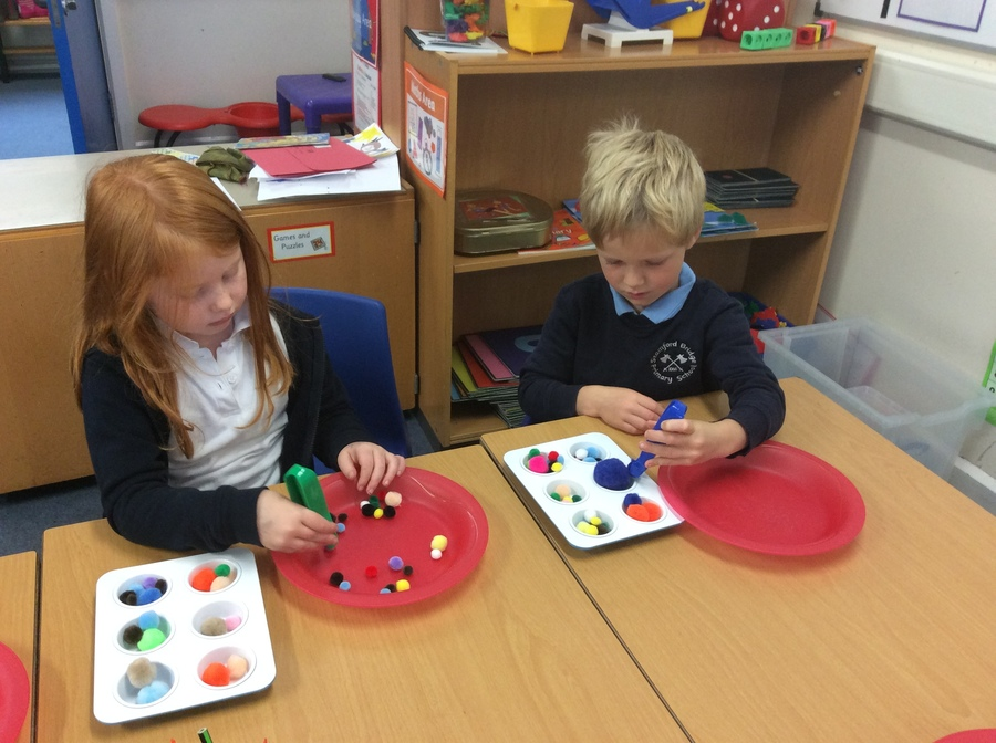 First thing each morning we complete tasks to build up fine motor skills.