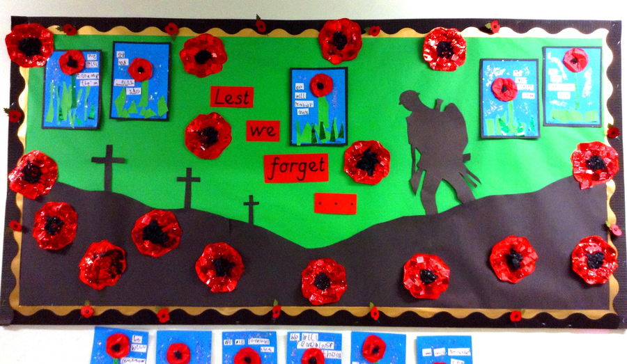 Our new display for Remembrance Day
