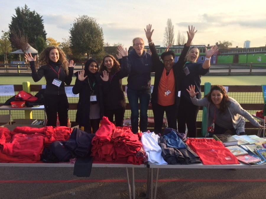 PTA team at the school uniform sale
