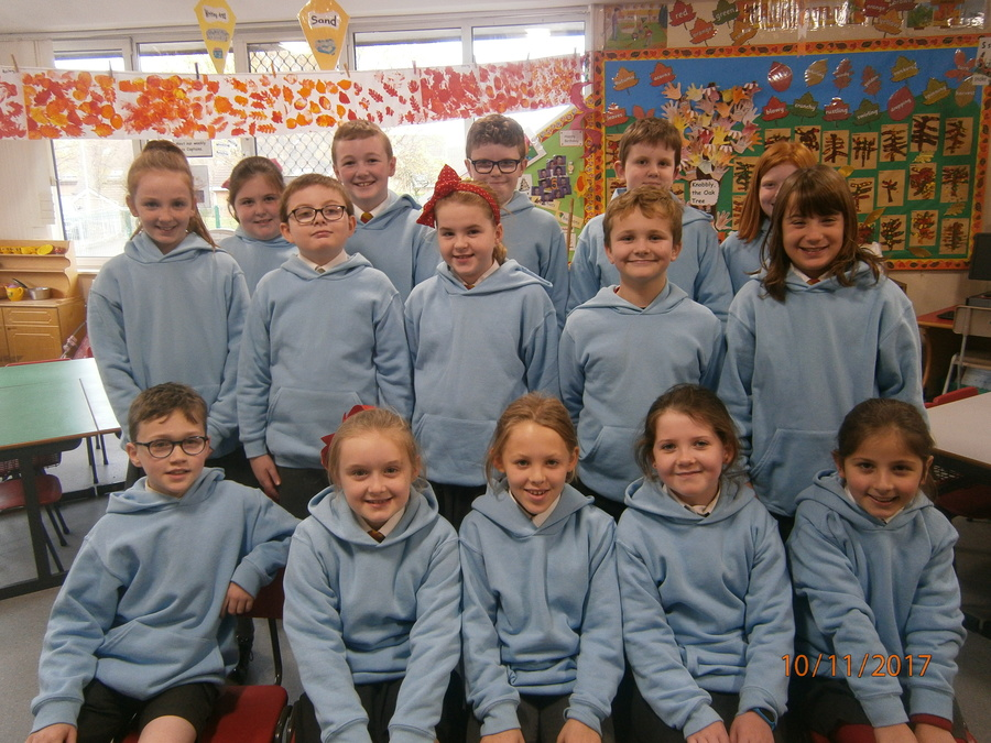 Congratulations to our newly appointed Anti- Bullying Ambassadors. This group is made up of year groups from P5-P7 and are easily identifiable in their pale blue hoodies at break time and lunchtime.  Missing from the picture is Ethan P.7YR