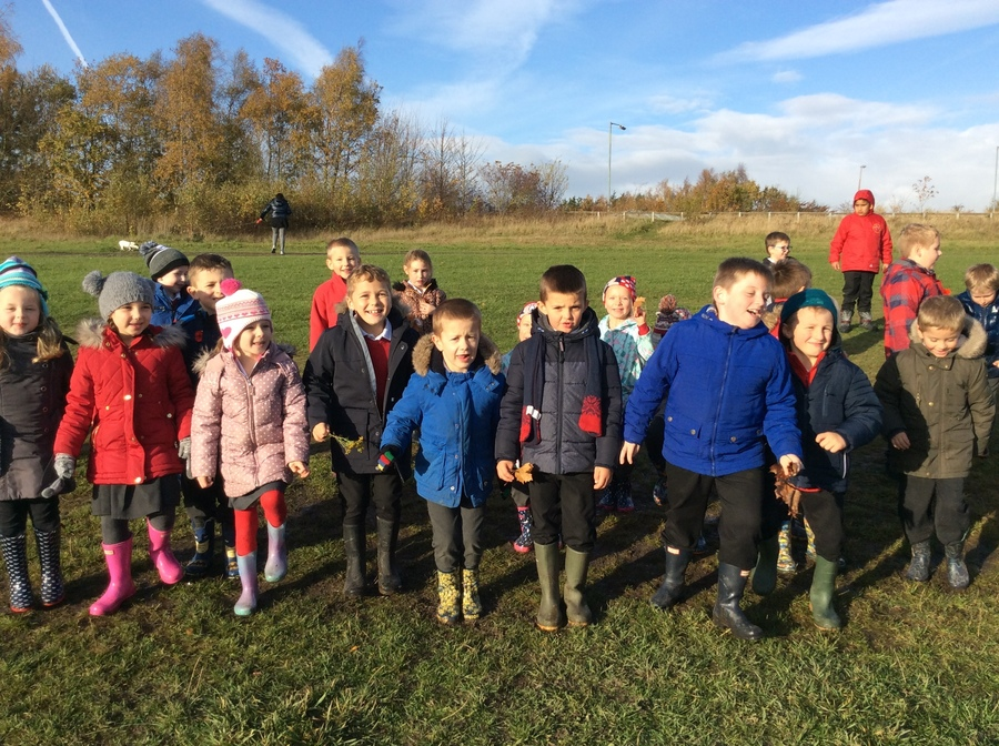 A wonderful welly walk in the autumn sunshine. We just couldn't resist getting in the mud!