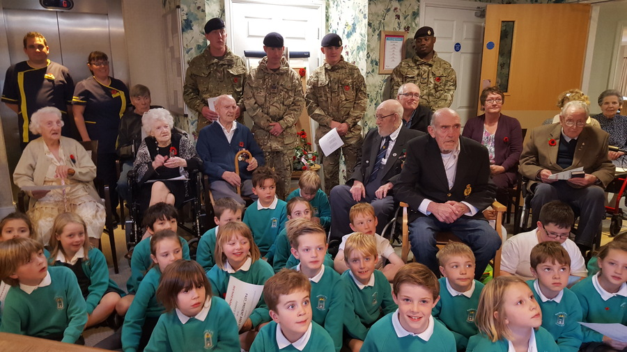 Roecliffe Relations having their Remembrance Day service