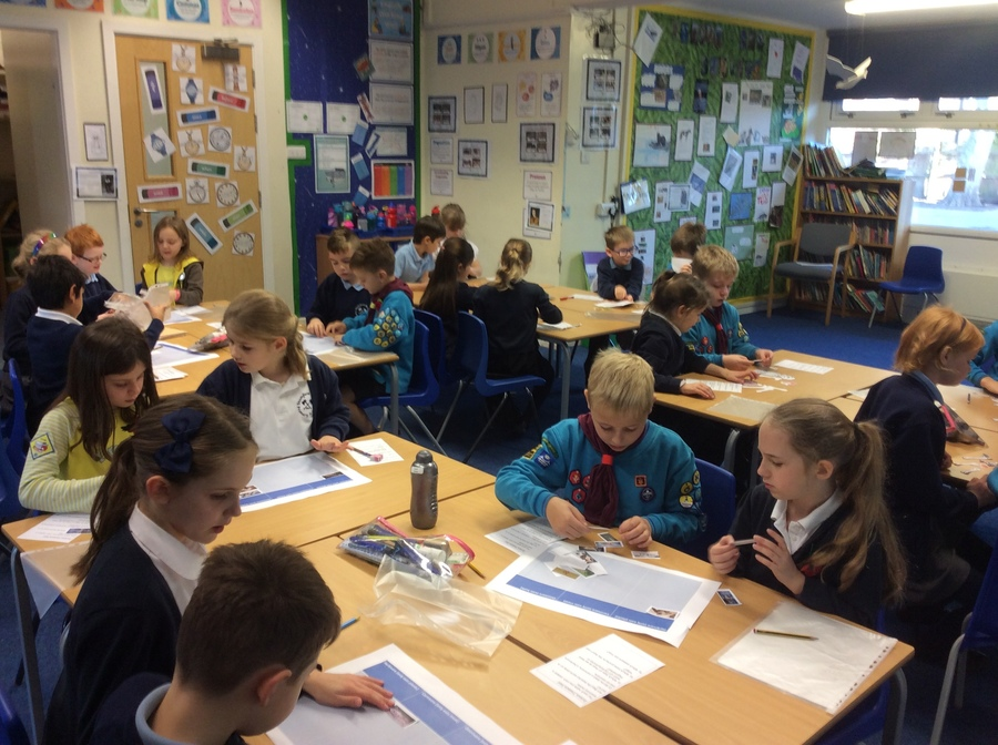 Year 3 working hard in a science investigation lesson
