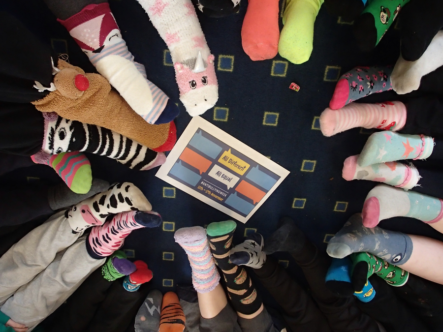 13th November 2018 Odd Sock Day for Anti Bullying Week
