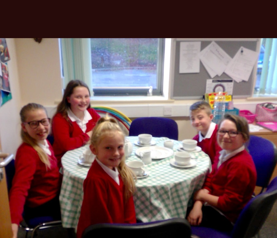 Afternoon tea with Mrs Lowry is a great  time to talk about things that are important to us.