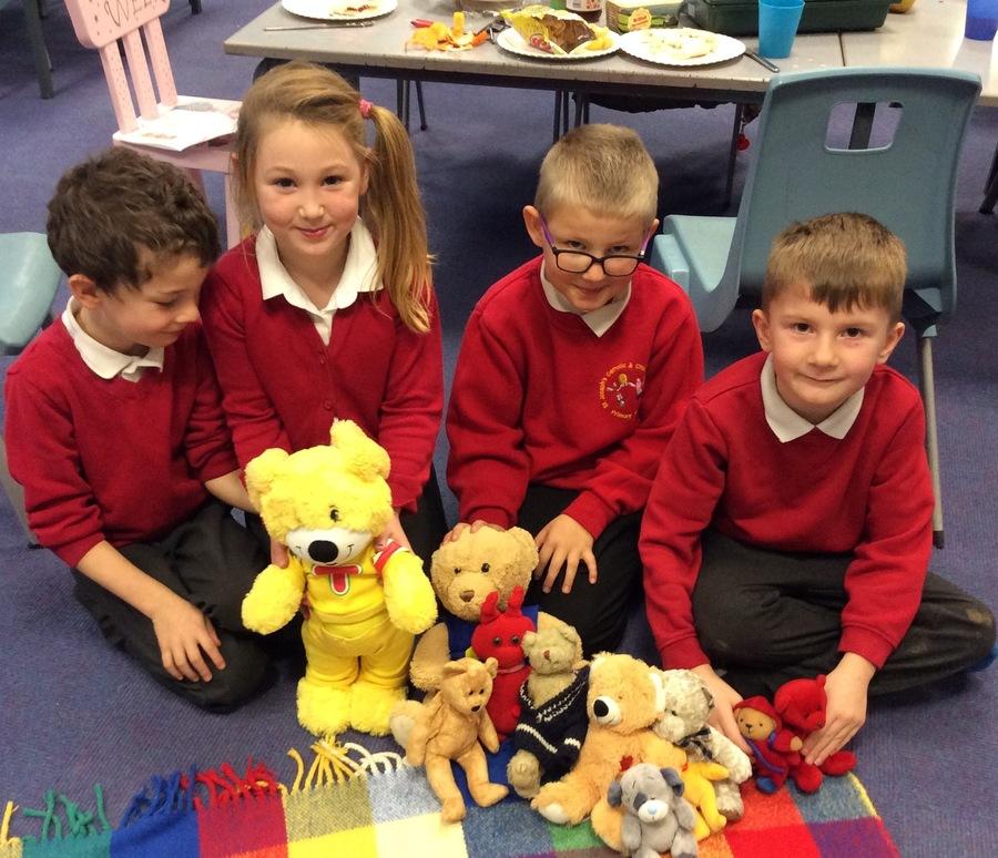 Our bears are ready for a TeddyBears' picnic.