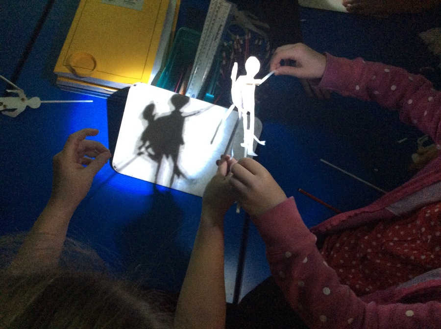 Investigating shadows as part of our science work on light