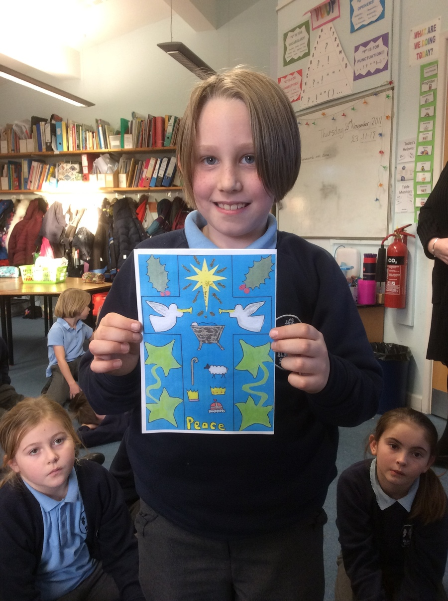 Janina was delighted to win the Diocesan Christmas Card Competition this year - Congratulations Janina!
