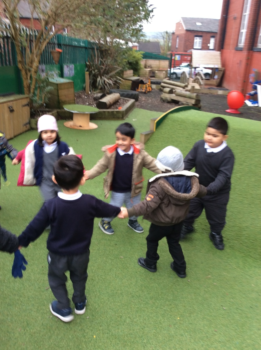 We loved playing ring games/party games outside.