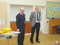 Mr Lack and Mr Mitchell-Hill came to present the prizes