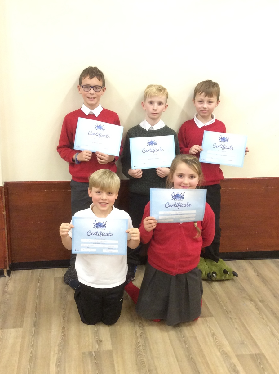 Well Done to five of our Year 5 students; Lynkon, Abraham, Preston, Gracie and Taylor, all of whom achieved their deep water confidence certificates. Well done to these 5 students, this is a fantastic achievement!