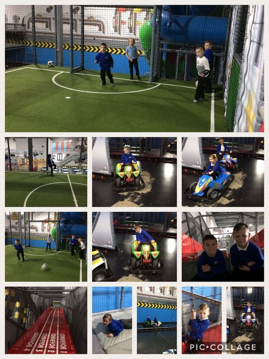 Our Lower School  really enjoyed their morning at PlayFactore as a reward for their excellent attendance - Autumn 1