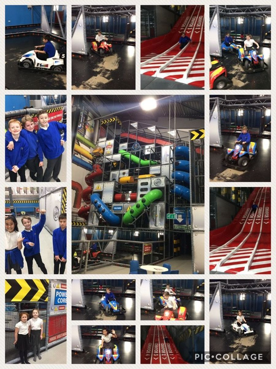 Our Upper School having a blast at PlayFactore as a reward for their excellent attendance - Autumn 1