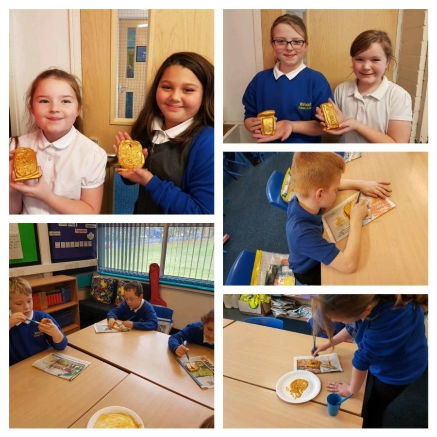 Year 4 had great fun making their own Egyptian mask to enhance their history topic - The Ancient Egyptians