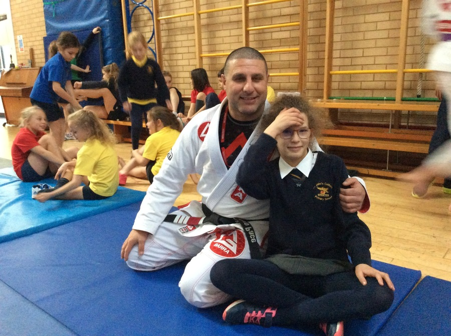During Anti-Bullying week we were lucky enough to take part in a  Jiu Jitsu workshop led by the wonderful staff at Gracie Barra, Bath. They taught the children positive strategies for dealing with bullies...and we had lots of fun!