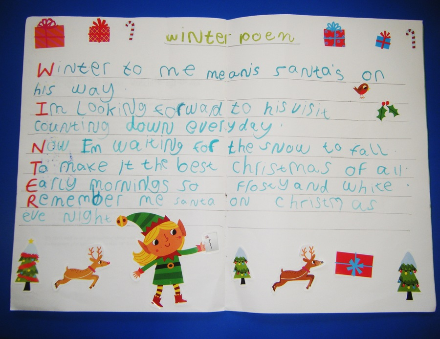 Winter Poem by a Year 1 Child