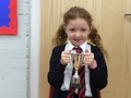Nina - Working as such a great team with Freya when making wind up toys! Great team work!