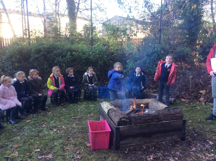 At the start of Advent we had a Reconciliation service. Here, the children are throwing their sins into a fire as a visual reference for their sins disappearing.