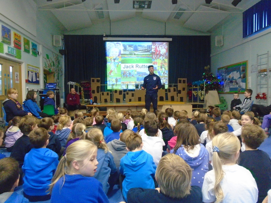 England and GB CP football captain visit