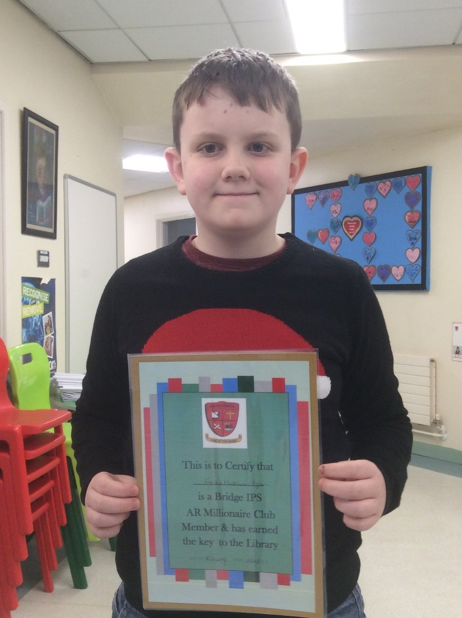 Congratulations to Frankie who has read loads of books to become word millionaire number 5