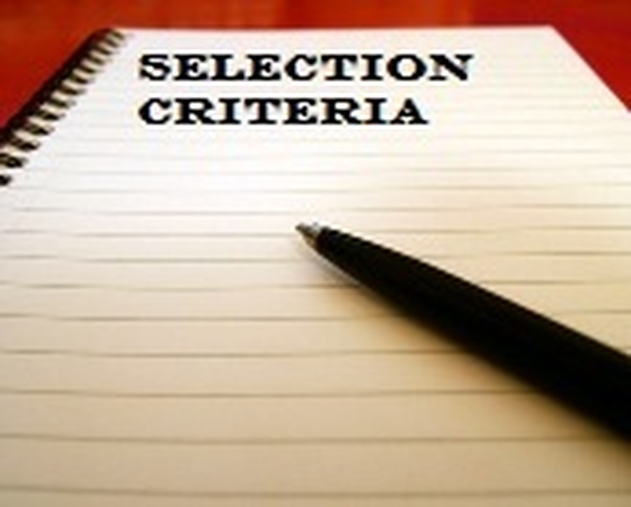 Selection Criteria for Nursery