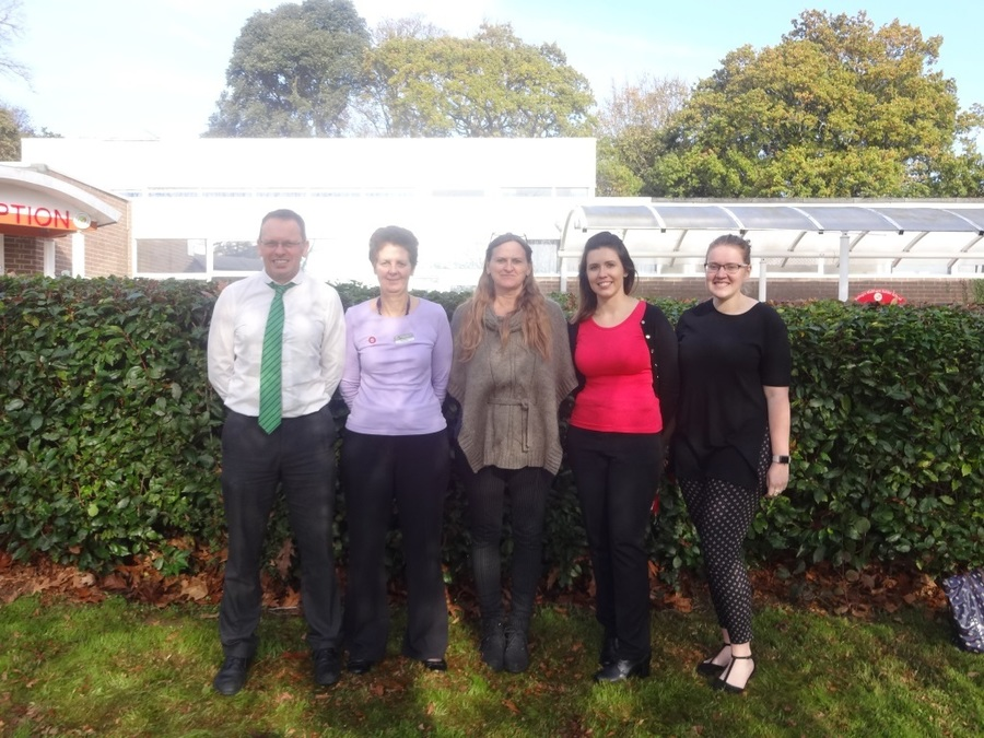 From left to right:  Mr McKenna, Mrs Barclay, Mrs Harris, Mrs Mars, Miss Batchelor