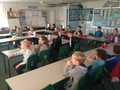 <p>Chanting our times tables</p>