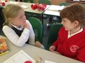 Making sure your focus is<br>on the person speaking is<br>important. Fantastic girls.