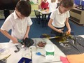 Choosing different materials<br>for our boats!