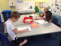 Working hard on our maths!