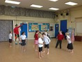 Having fun in our<br>dodgeball session!